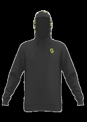 SCOTT - Felpa uomo con cappuccio cotone organico SCO Hoody 10 Icon - Nero