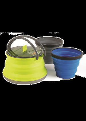 SEATOSUMMIT - Bollitore ultra compatta richiudibile due bicchieri X-Pot 1.3 l