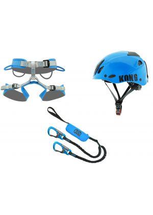 KONG - Set completo da ferrata casco longe imbrago Arrampicata 2- tg. XL