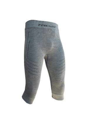 RIDAY - Calza maglia uomo panta 3/4 lana australiana Wooltech RDY - Grigio