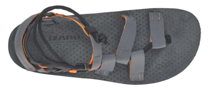 miniatuur 12 - LIZARD - Sandalo plantare in microfibra fascia intrecciata Hex H2O - Grigio